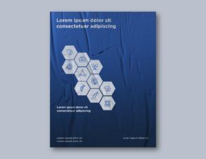Hexagon Cover Page Design, BidsandBeyond