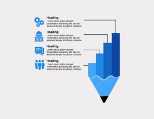 Pencil Chart Graphic, BidsandBeyond