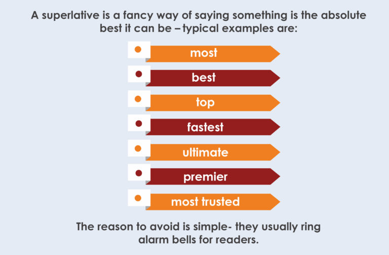 Avoid superlatives